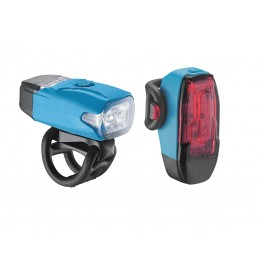 LEZYNE LED KTV DRIVE PAIR 180F/10R LM BLUE