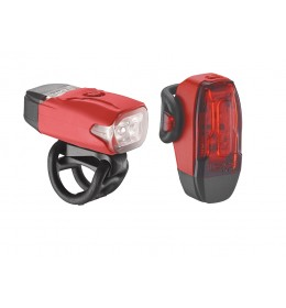 LEZYNE LED KTV DRIVE PAIR 180F/10R LM RED