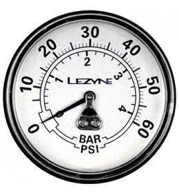 LEZYNE 60 PSI GAGUE 2.5 BLACK/SILVER