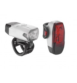 LEZYNE LED KTV DRIVE PAIR 180F/10R LM WHITE