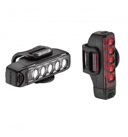 LEZYNE STRIP DRIVE PAIR 300F/150R LM BLACK