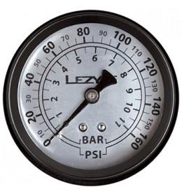 LEZYNE 160 PSI GAUGE BLACK/SILVER